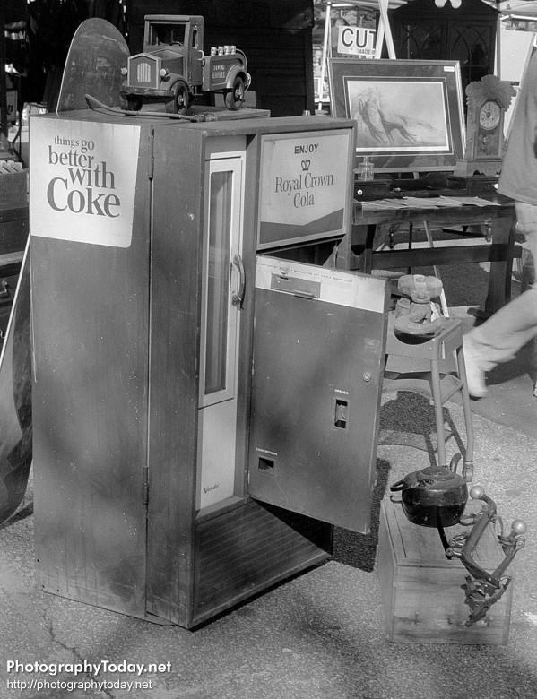 A rather confused soda machine.