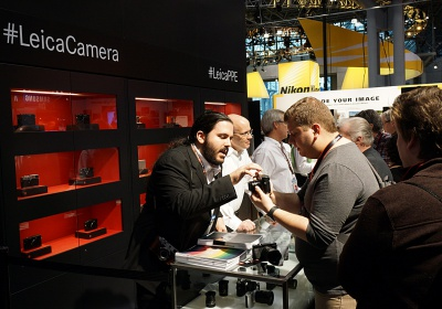 Leica booth at PhotoPlus Expo.