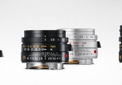Three Leica M-mount lenses