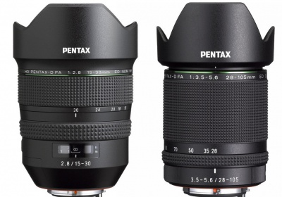 Pentax 15-30mm and 28-105mm lenses