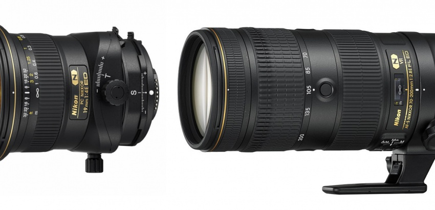 Nikkor PC19mm and 709-200mm zoom