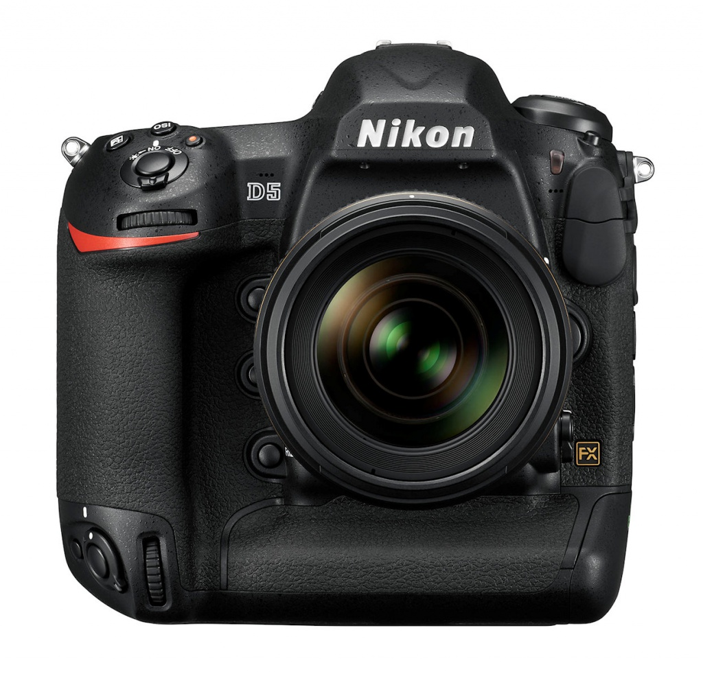 The Nikon D5 has no battery grip. It's part of the camera.