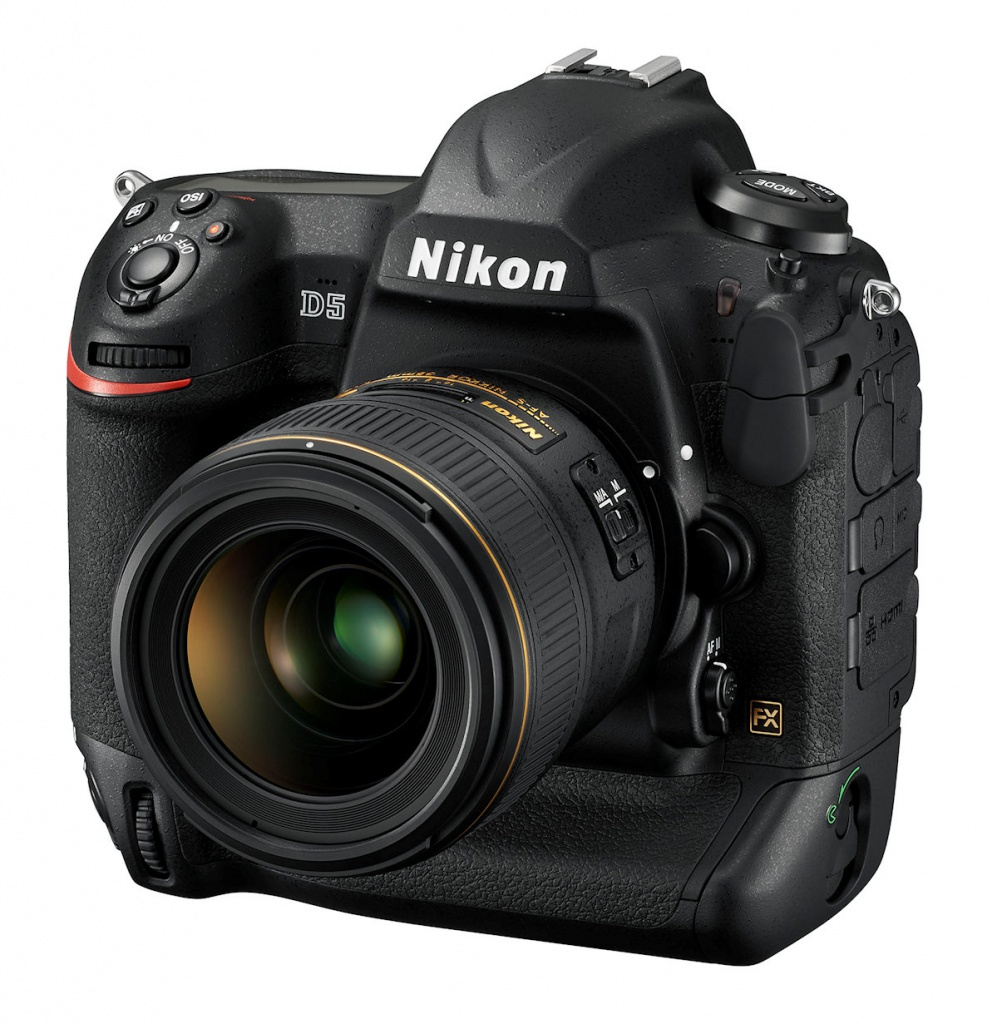 The Nikon D5 is a full-frame DSLR.