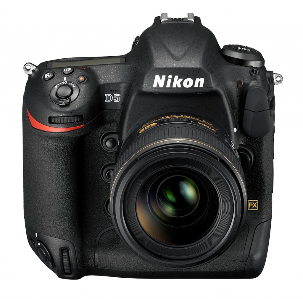 A top view of the Nikon D5.