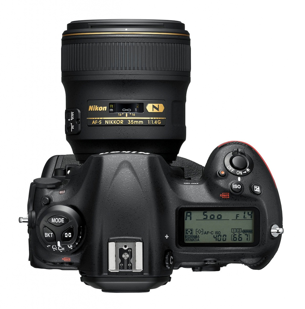 The Nikon D5's top deck.
