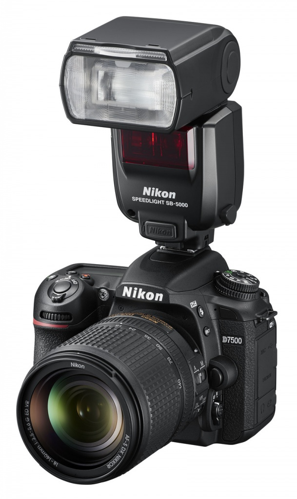 The Nikon D7500 has a built-in pop-up flash and can also accept Nikon's Speedflash units.