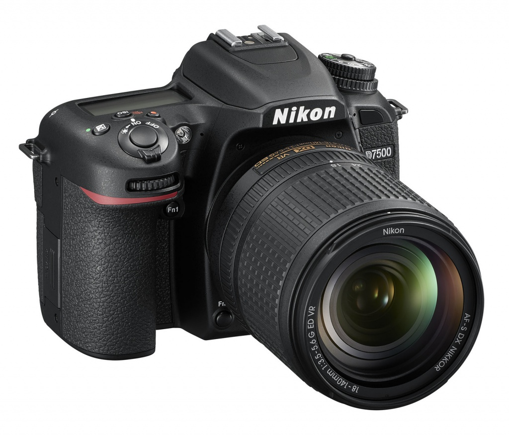The Nikon D7500 can be purchased as body only or with the 18-140mm kit lens shows in these photos.