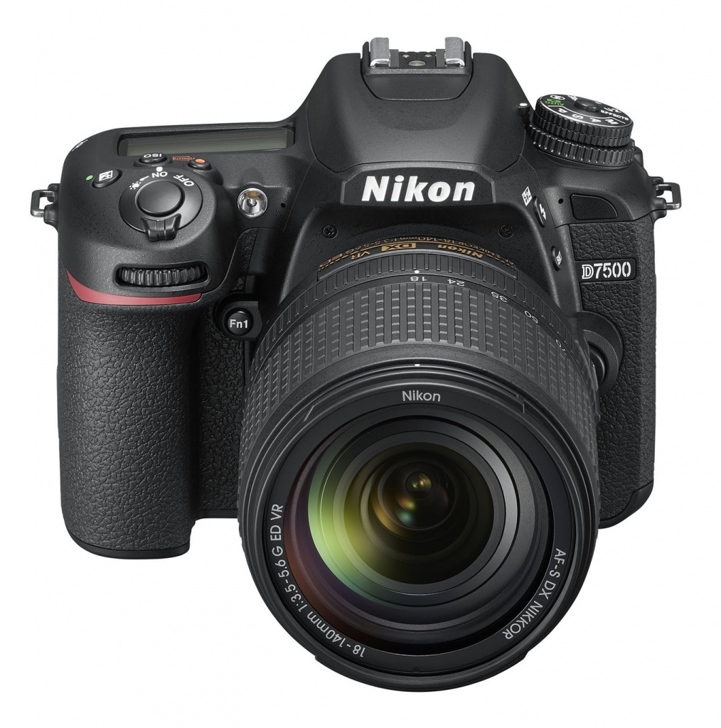 The Nikon D7500 uses a 20.9-MP APS-C CMOS sensor with an ISO range of 100-51,200.