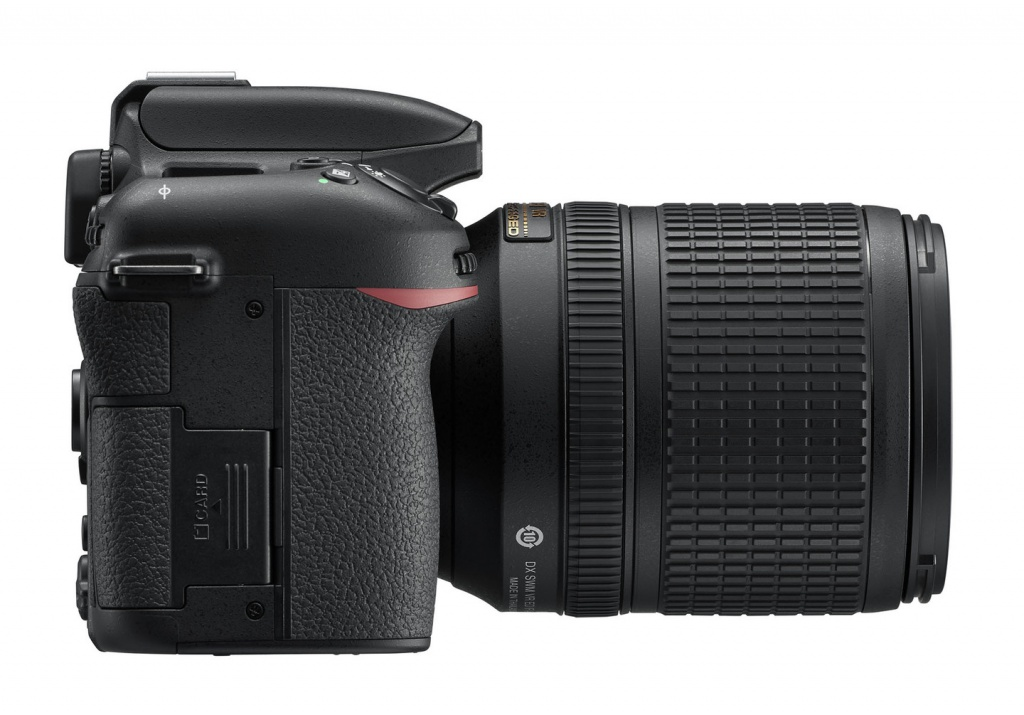 The right side of the Nikon D7500 holds the battery and access to the SD memory card.
