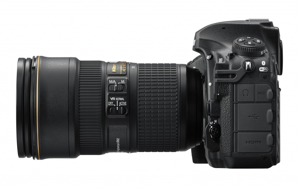 The port covers of the Nikon D850.