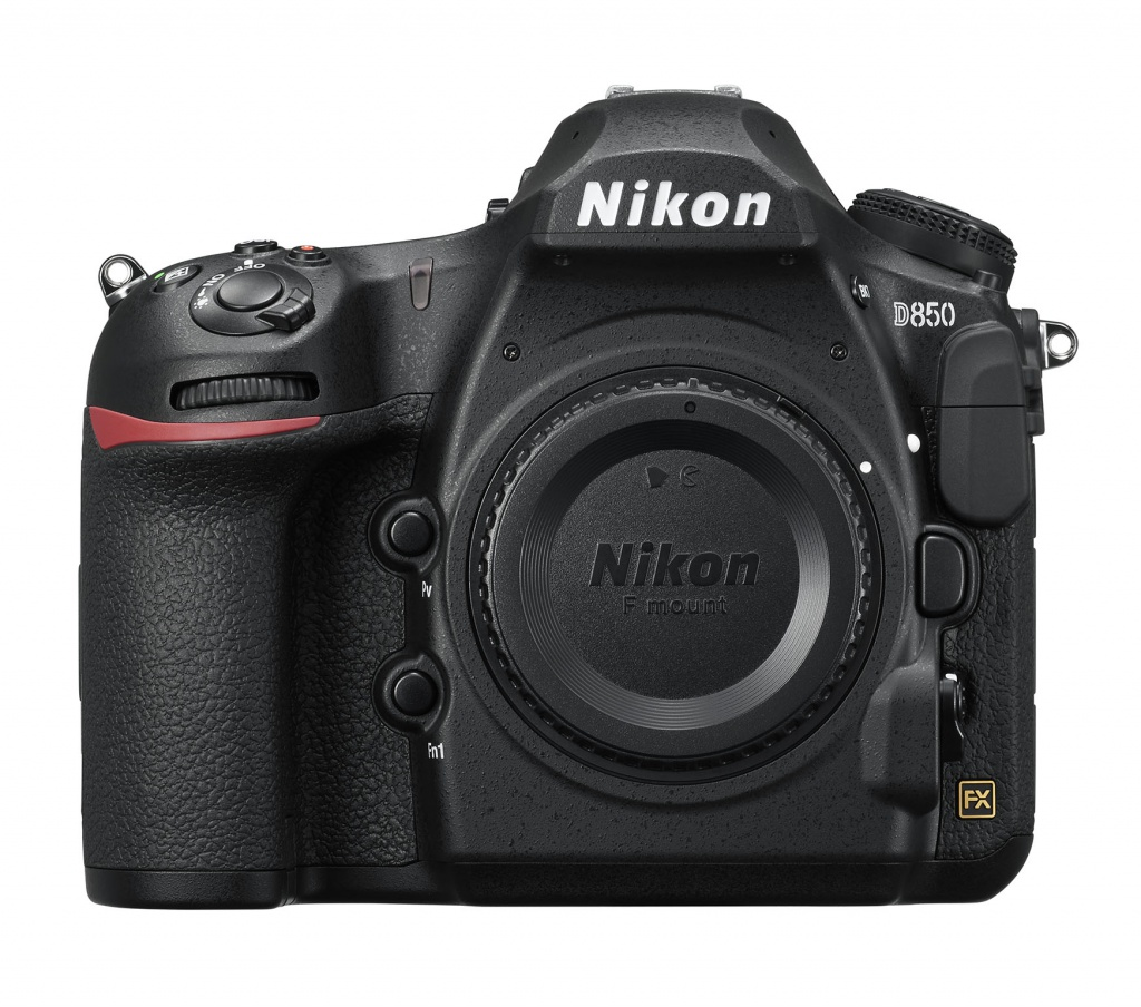 The Nikon D850 without its lens mounted.