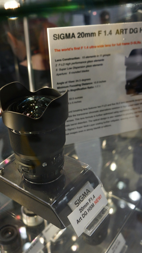 Sigma's f/1.4 20mm Art lens is a physically large lens.
