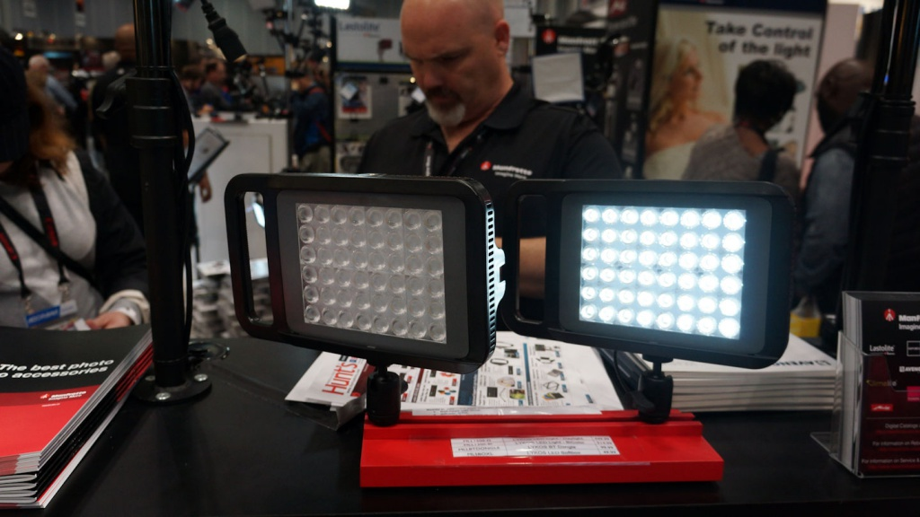 Manfrotto's LED panel lights.