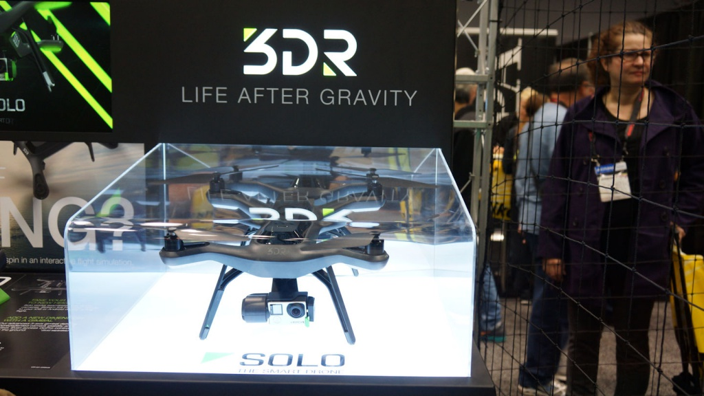 Several companies were exhibiting drones.