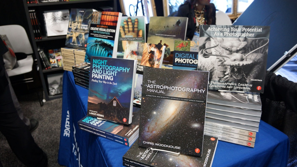 Astrophotography books were front and center at the Focal Press exhibit.