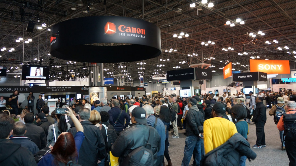 Lots of people showed up for the Canon talk.