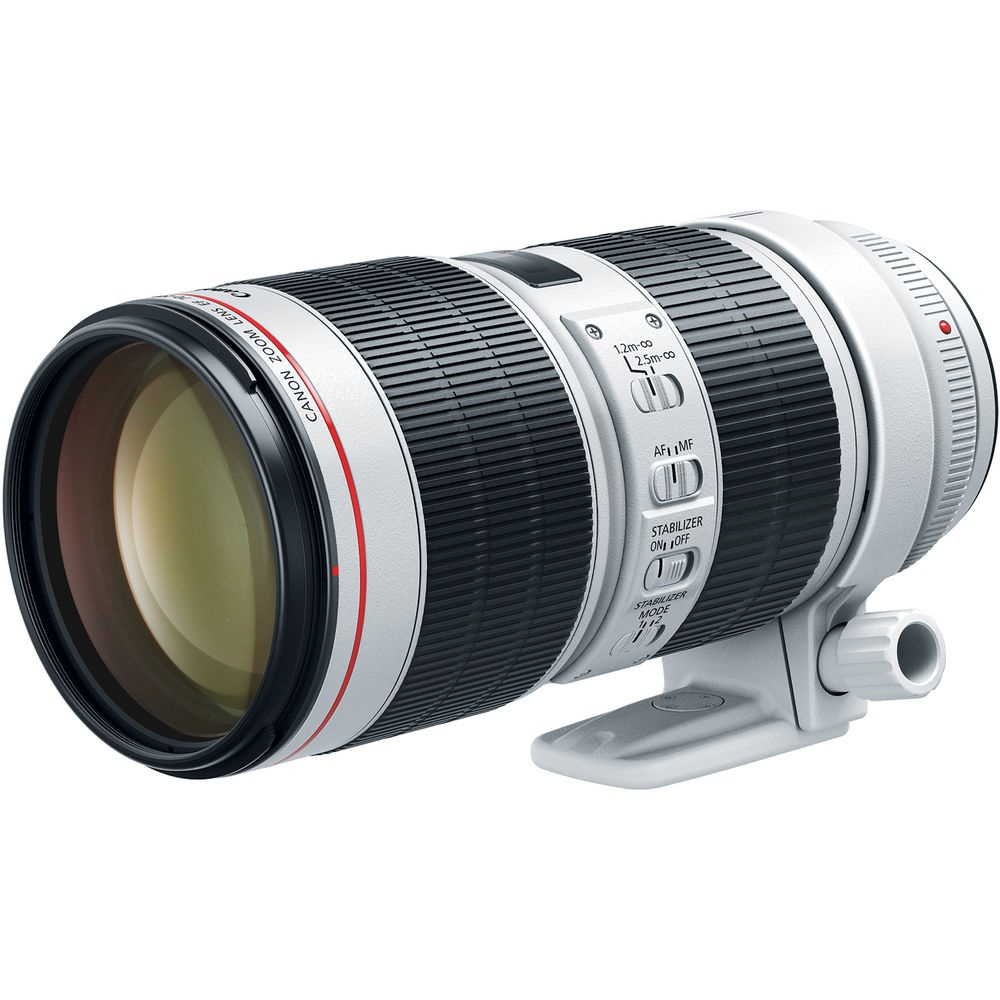 The Canon EF 70-200mm f/2.8L IS III includes the tripod collar.