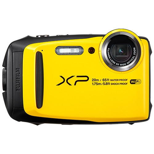 The Fujifilm FinePix XP120 has a 5x zoom lens.