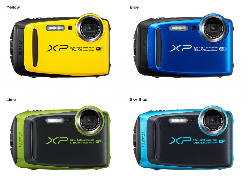 The Fujifilm FinePix XP120 is available in four colors.