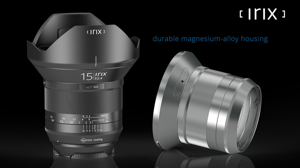 The internal construction of the Irix 15mm uses magnesium alloy.