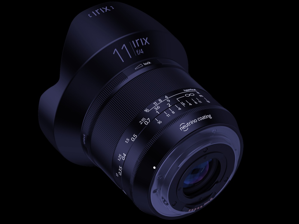 The Irix f/4.0 11mm Blackstone model has engraved markings that are filled with UV sensitive paint.