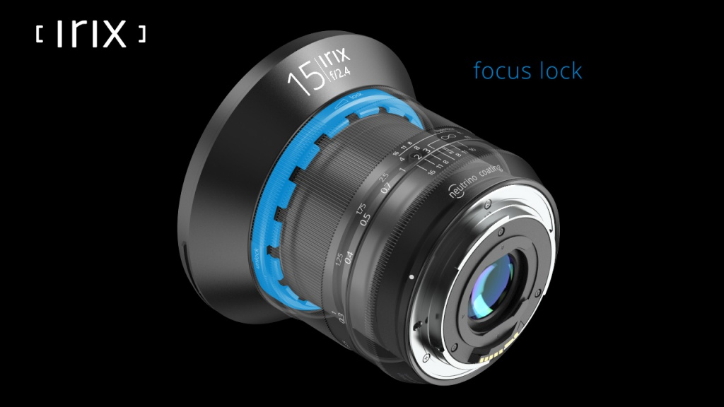 The focus lock of the Irix 15mm.