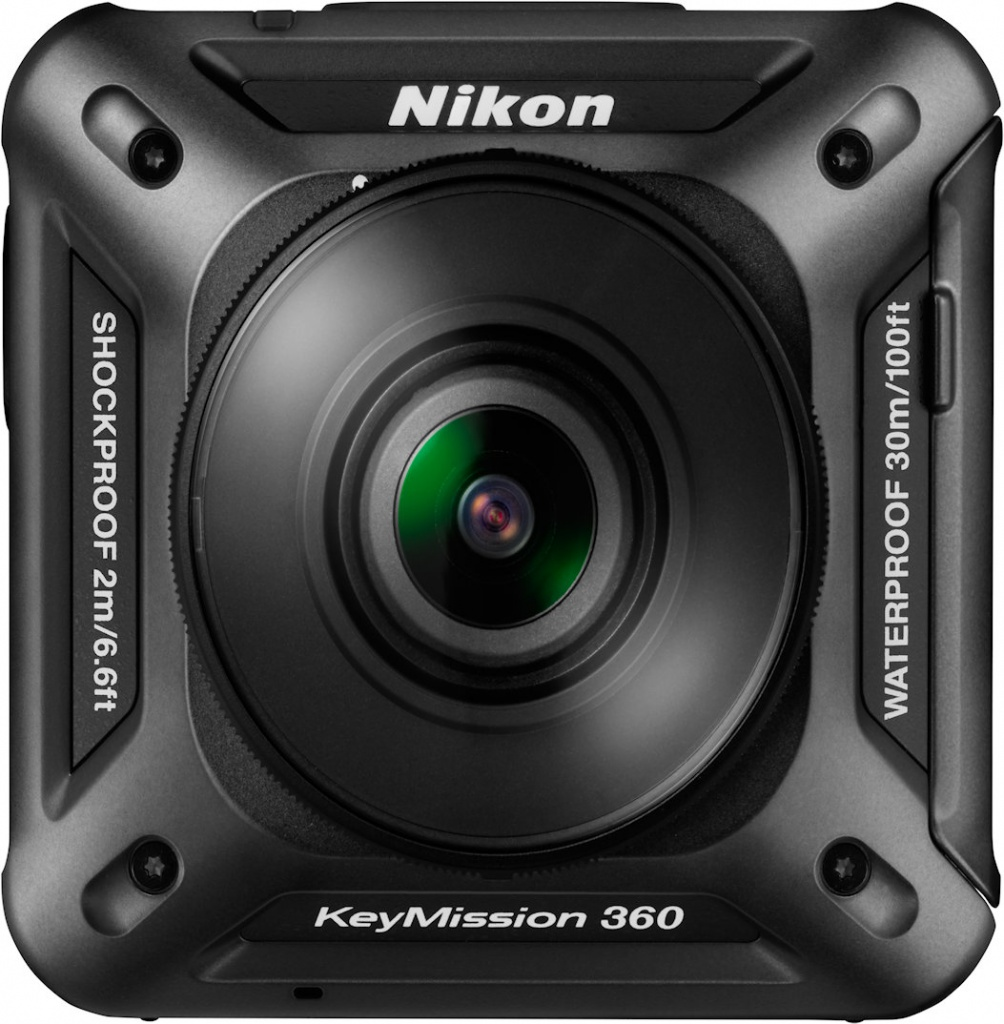 Nikon's KeyMission 360 has lenses on both sides.