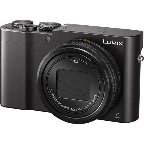 Panasonic Lumix DMC ZS100 with the lens retracted.