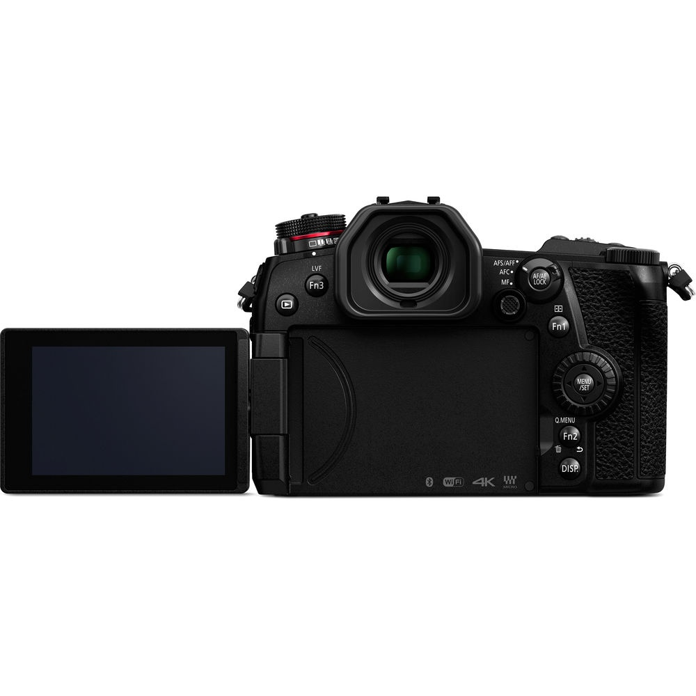 The Panasonic Lumix G9's LCD monitor is touch-enabled and also fully articulates.