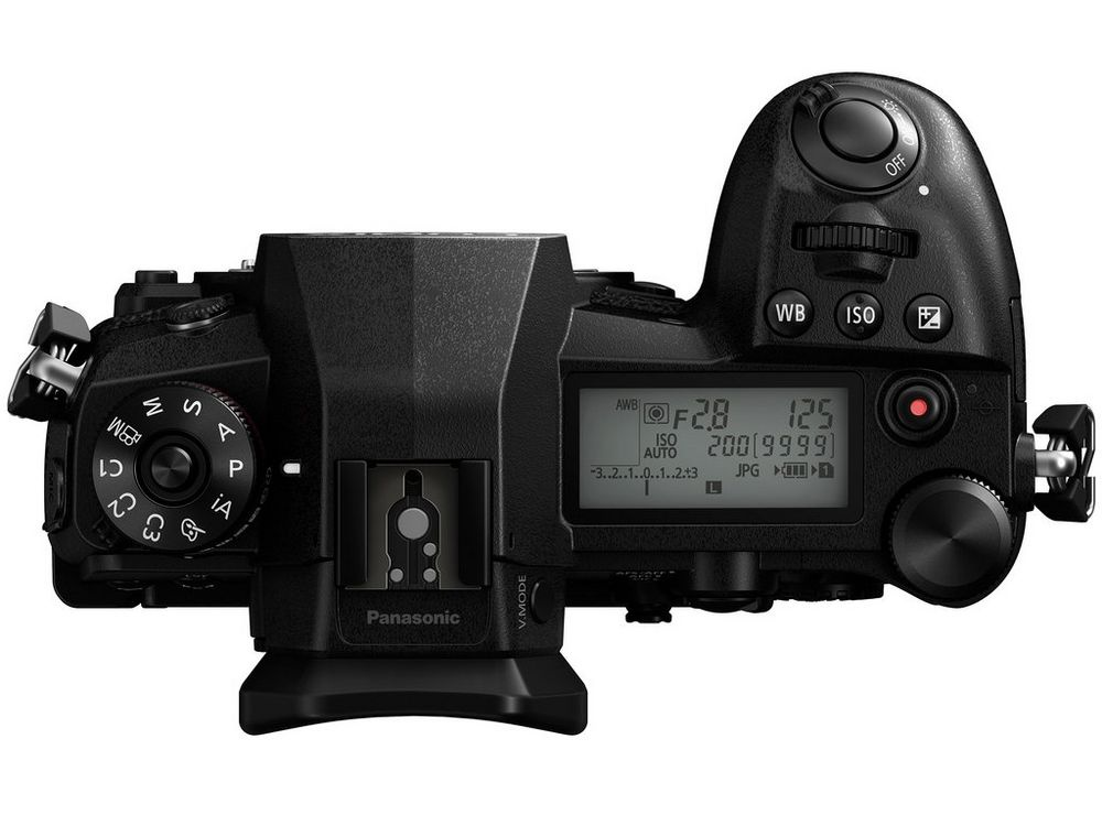 The Panasonic Lumix G9 has a secondary LCD panel on the top deck to display pertinent information.