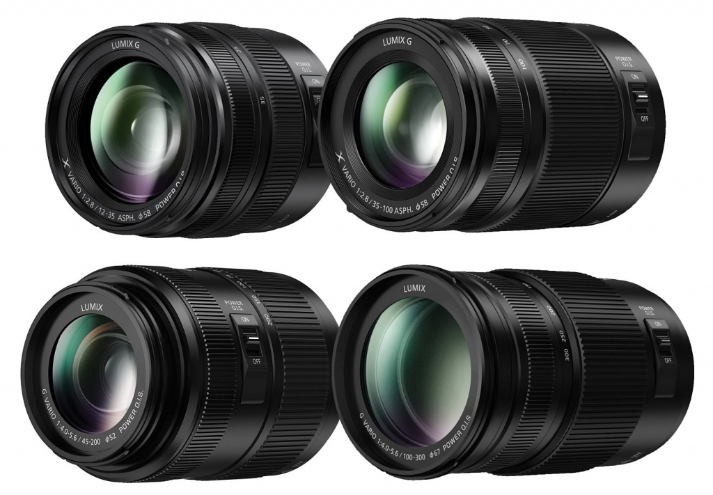 "Panasonic updated four zooms, including two ""Professional"" lenses."