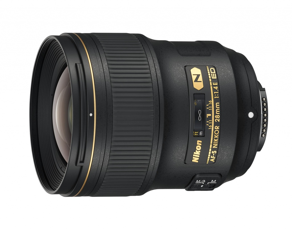 The Nikkor 28mm is intended for Nikon's FX full-frame digital SLRs.