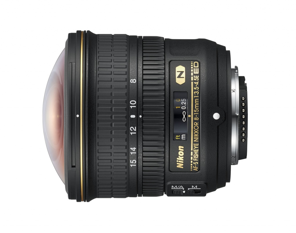 The Nikkor 8-15mm is for Nikon's latest FX full-frame digital SLRs.