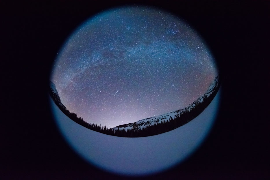 Nikon's sample image of a cricular fisheye image shot with the Nikkor 8-15mm set at 8mm.