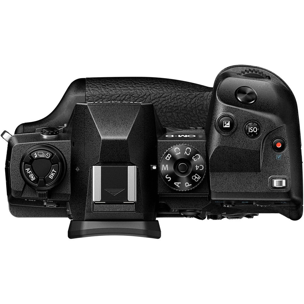 The top deck and controls of the Olympus OM-D E-M1X.