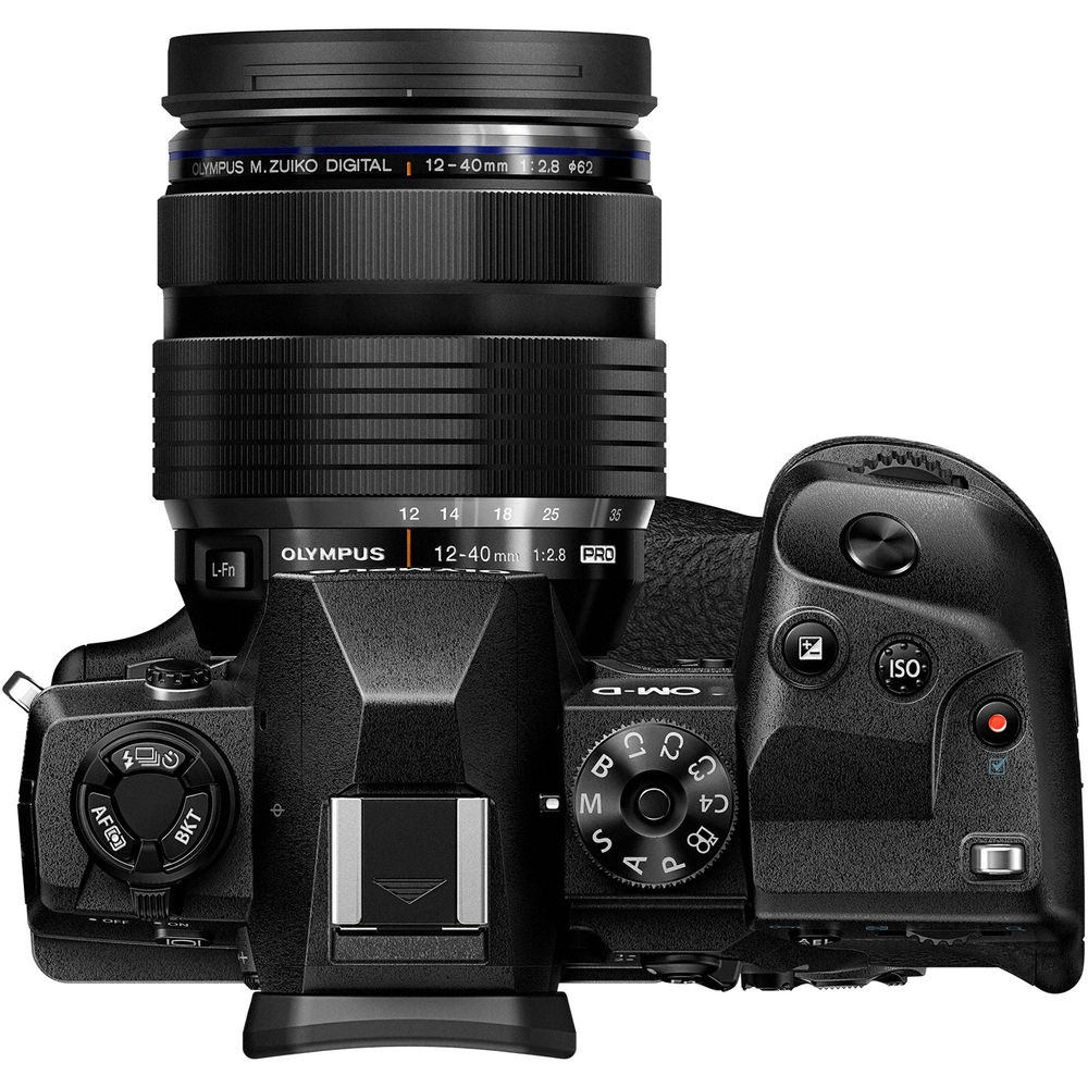 The Olympus OM-D E-M1X fitted with the 12-40mm Pro lens.