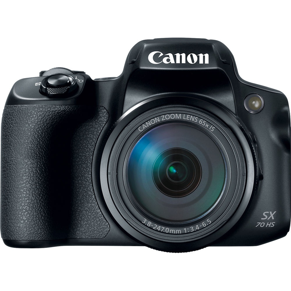 The Canon PowerShot SX70 HS is a bridge camera that has SLR-like handling.