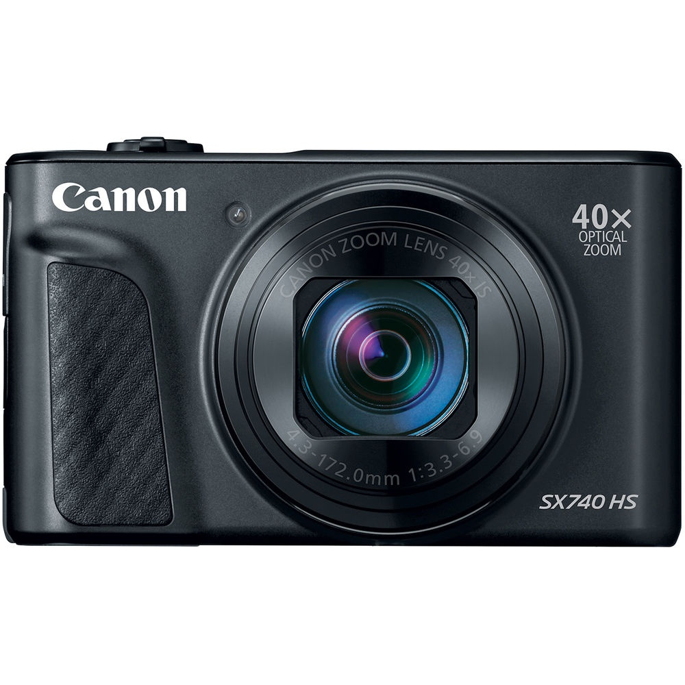 The Canon PowerShot SX740 HS uses a 20.3-MP CMOS sensor.