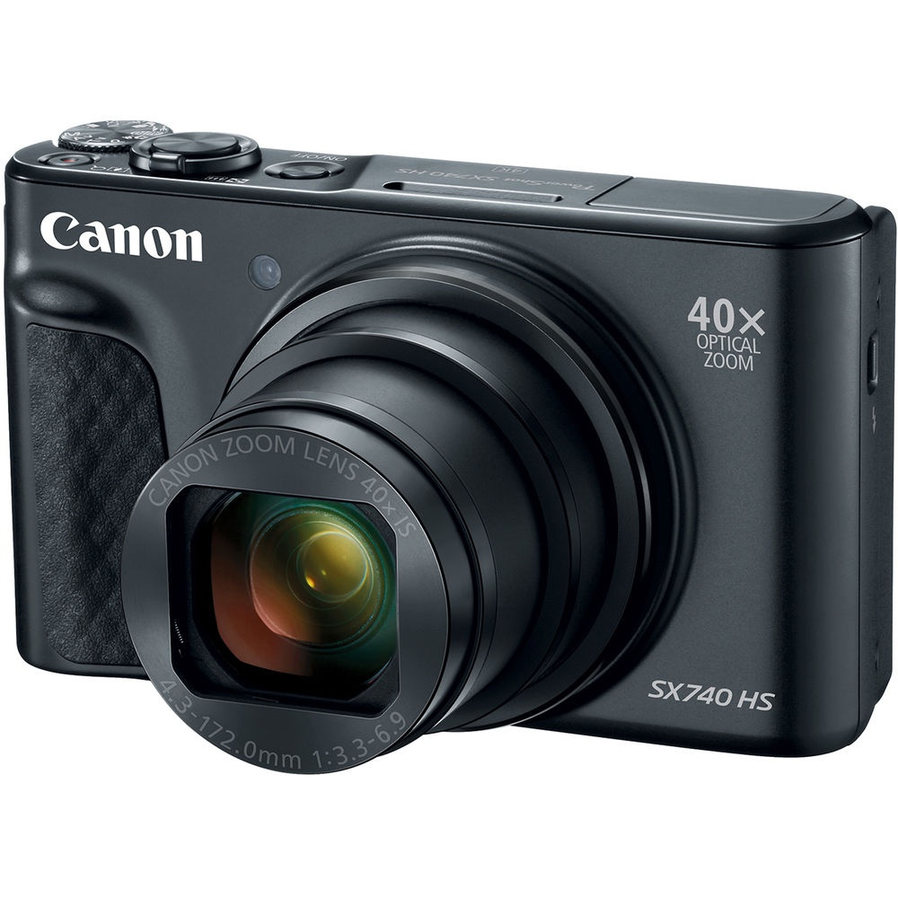 The Canon PowerShot SX740 HS has a 40X zoom.