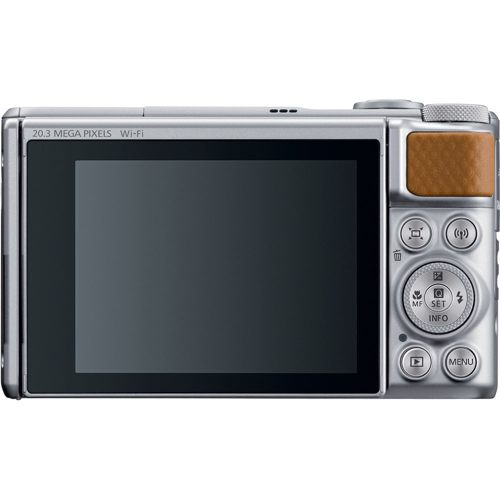 The brown leather covering is also used on the Canon PowerShot SX740 HS's thumb grip.