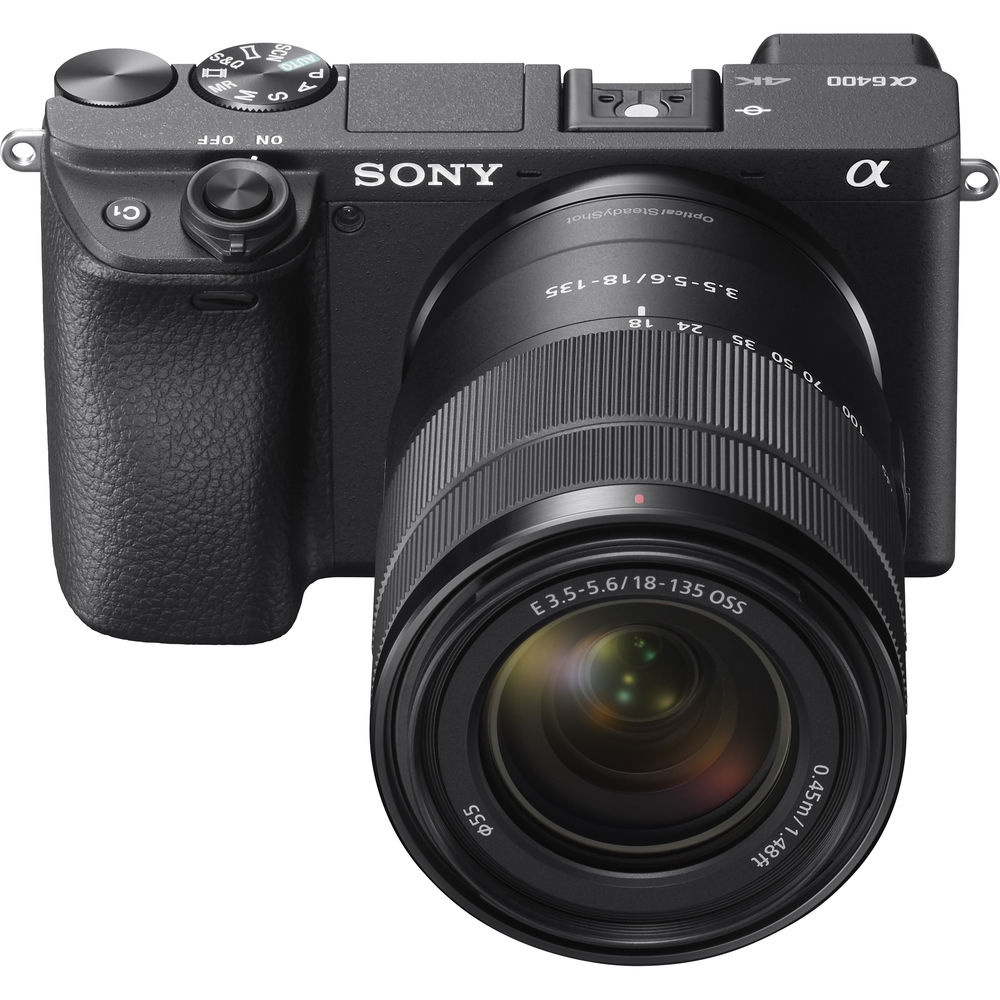 The Sony a6400 is also available with the 18-135mm lens.