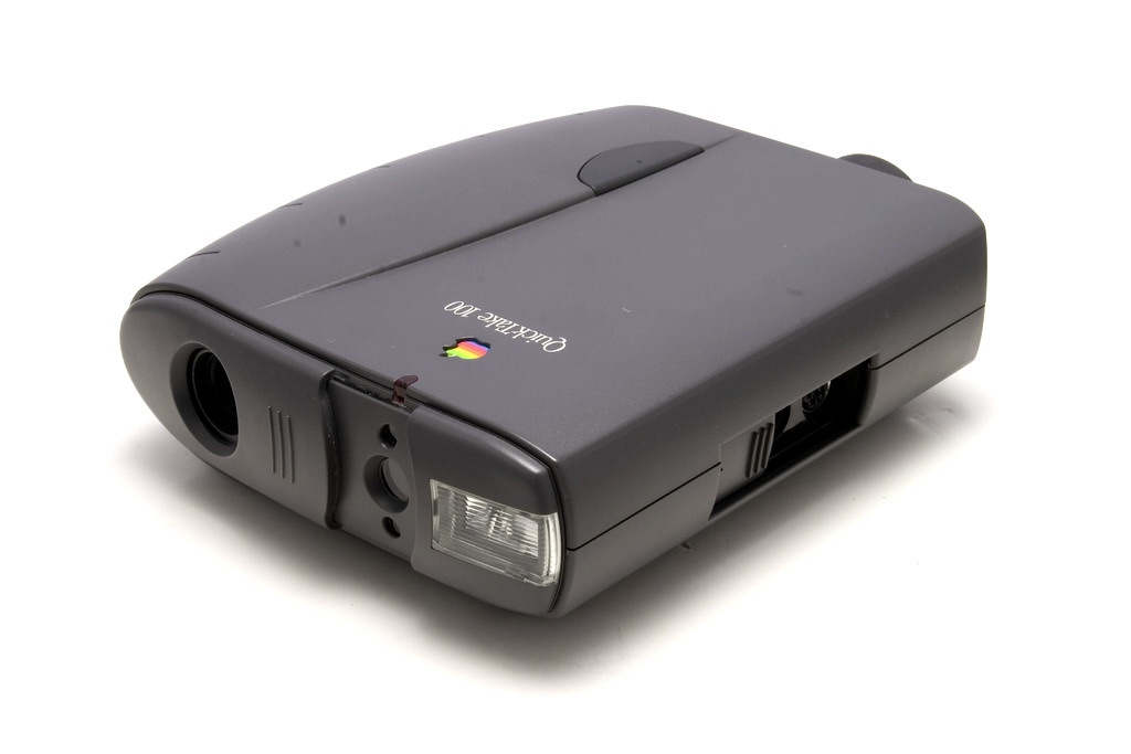 Apple's QuickTake 100 digital camera took eight photos and was created by Kodak.