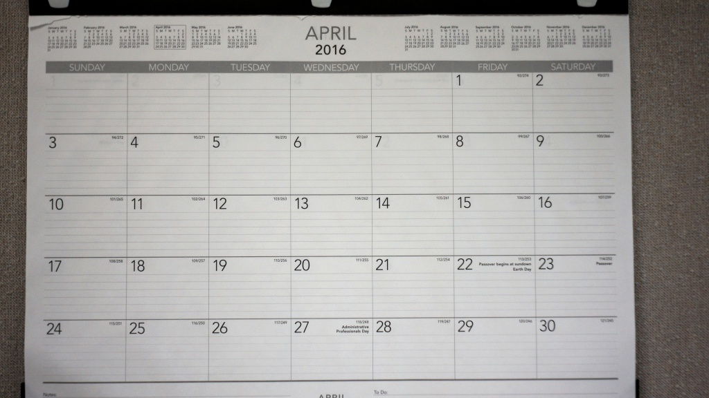 My wall calendar - wide open at f/3.5. Soft in the corners.