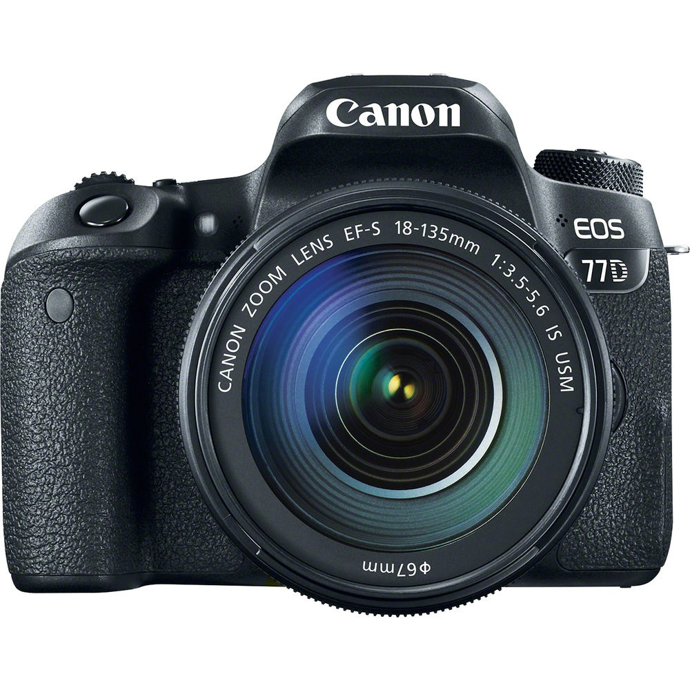 The Canon EOS 77D uses a 24.2-MP APS-C CMOS sensor.