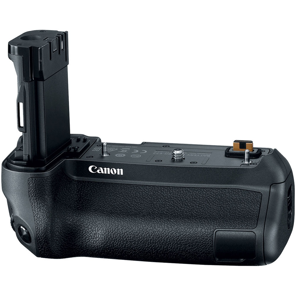 The Canon BG-22 battery grip holds two batteries for the EOS R.