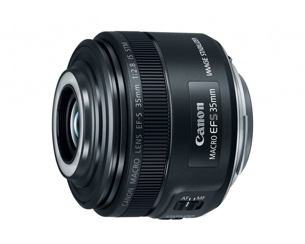 This Canon EF-S 35mm f/2.8 Macro IS STM is intended for Canon EOS cameras with APS-C sensors.
