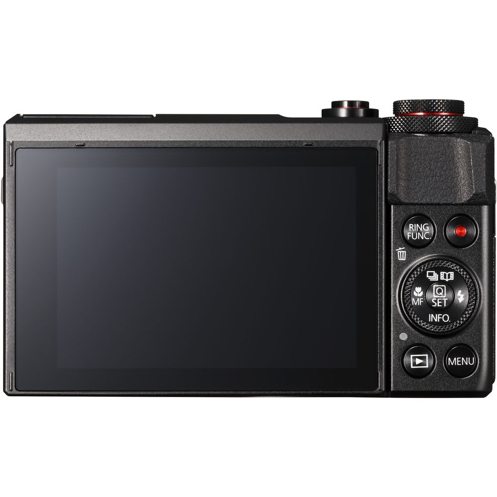 The rear and controls of the Canon PowerShot G7 X Mark II.