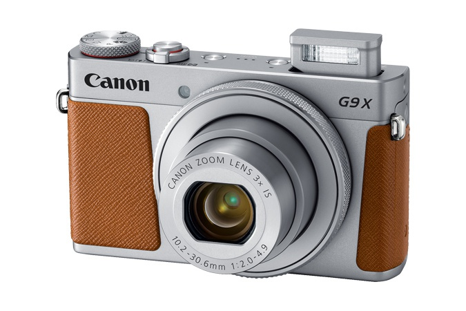 The Canon PowerShot G9 X Mark II has a small pop-up flash.