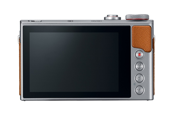 The rear controls and touch-enabled 3.0-inch LCD monitor of the Canon PowerShot G9 X Mark II.