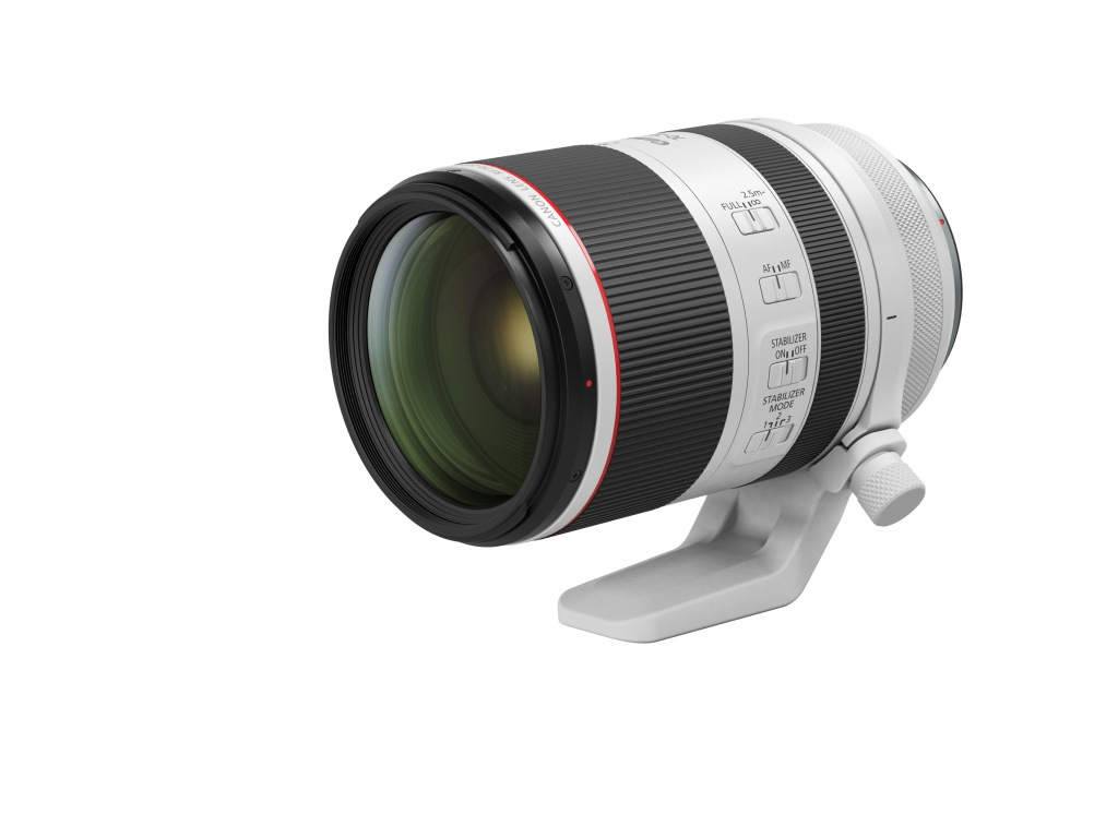 "The Canon EOS RF f/2.8 70-200mm L joins the camera maker's stable of well-known ""white' lens series."